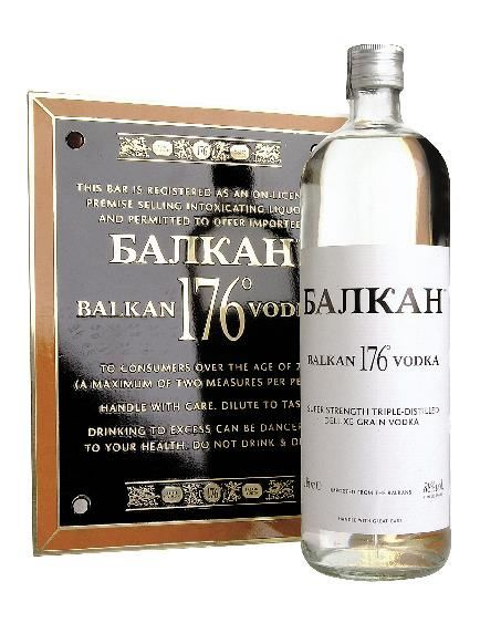 Balkan 176 Vodka Top 10 Strongest Alcoholic Drinks In The World