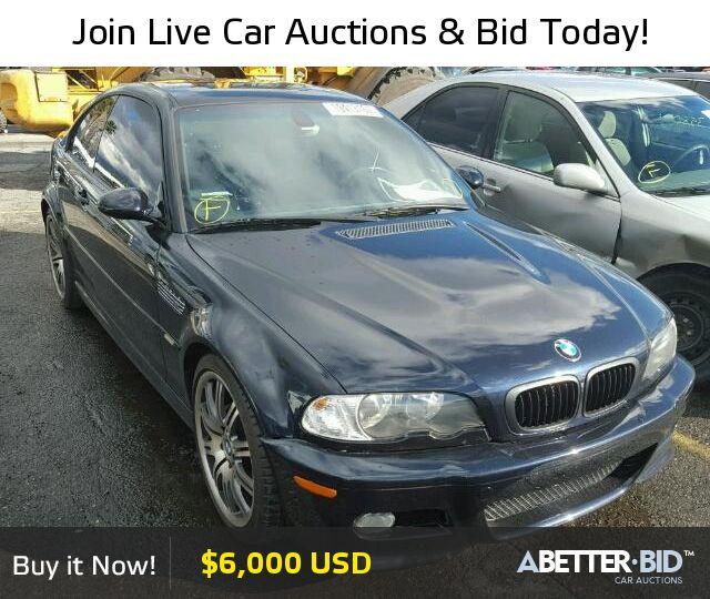 Salvage  2003 BMW M3 for Sale - WBSBL93463JR20290 - https://abetter.bid/en/19413167-2003-bmw-m3