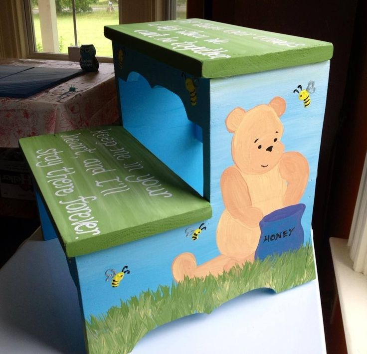 Painted wooden step stool Winnie The Pooh gender neutral #ECMC naptimeDesignsJD@gmail.com & The 19 best images about Inspiring Ideas on Pinterest | Wooden ... islam-shia.org