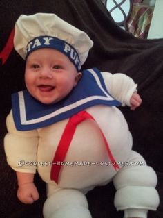 Adorable Baby Stay Puft Marshmallow Man Costume