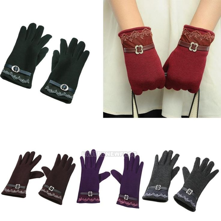 Women Winter Lace Gloves Touch Screen Warm Gloves Outdoor Driving Gloves Mittens #Unbranded #WinterGloves #Casual