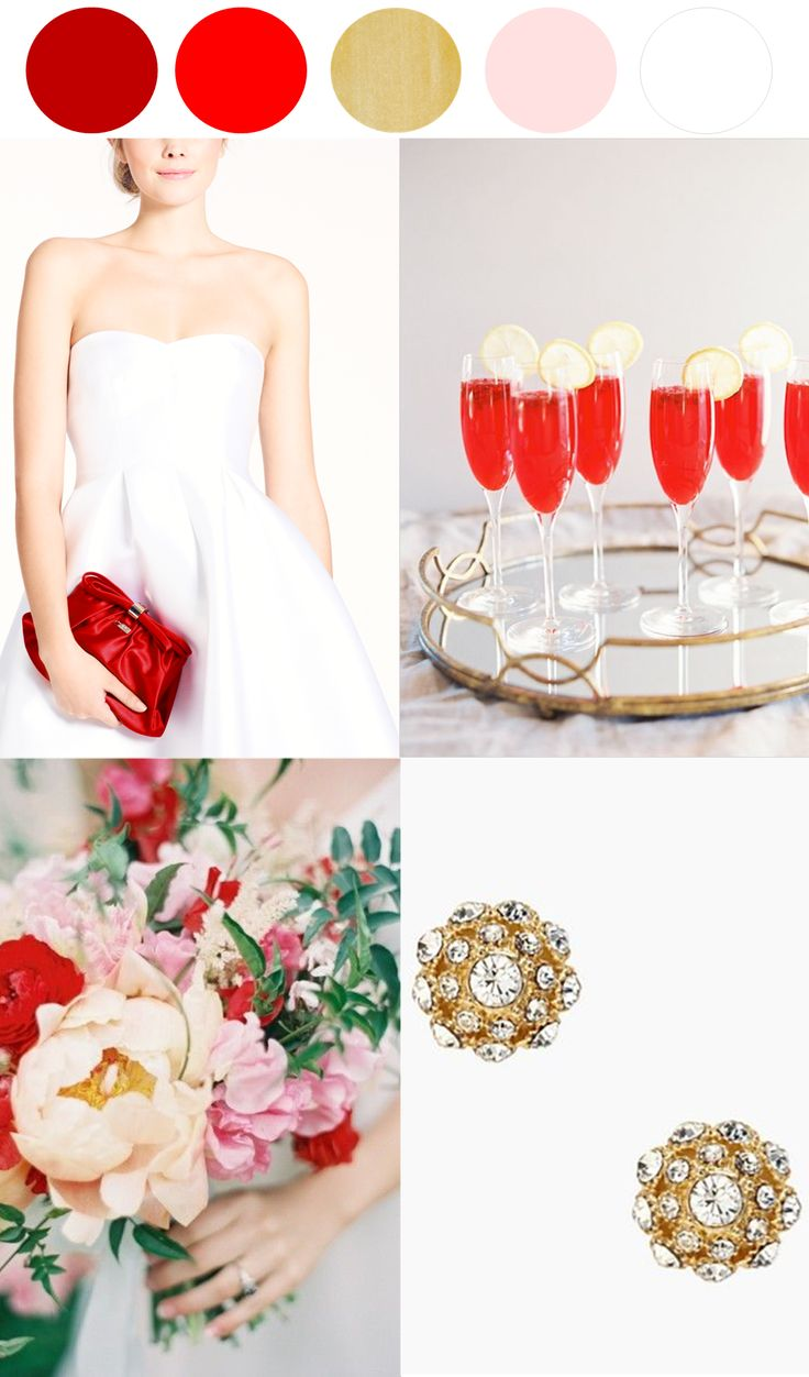Bright and beautiful color palette - poppy red and yellow with a bit of pink and gold http://www.theperfectpalette.com/2014/03/surprise-sale-wedding-edition.html
