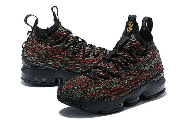 301576da8a4 Intricate Nike LeBron XV Mens Original Basketball Shoes BHM Green Red Black