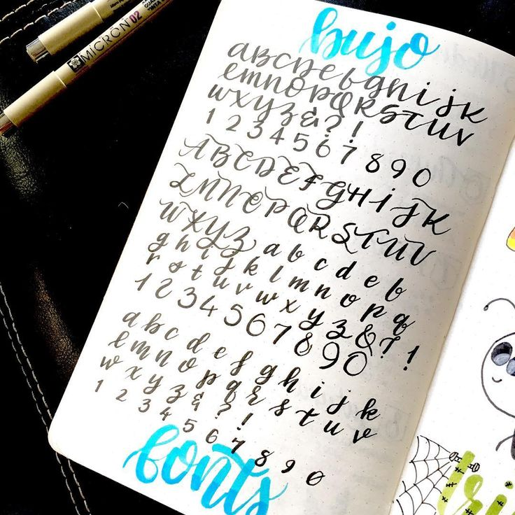 Quot fonts for the bullet journal calligraphy bujo