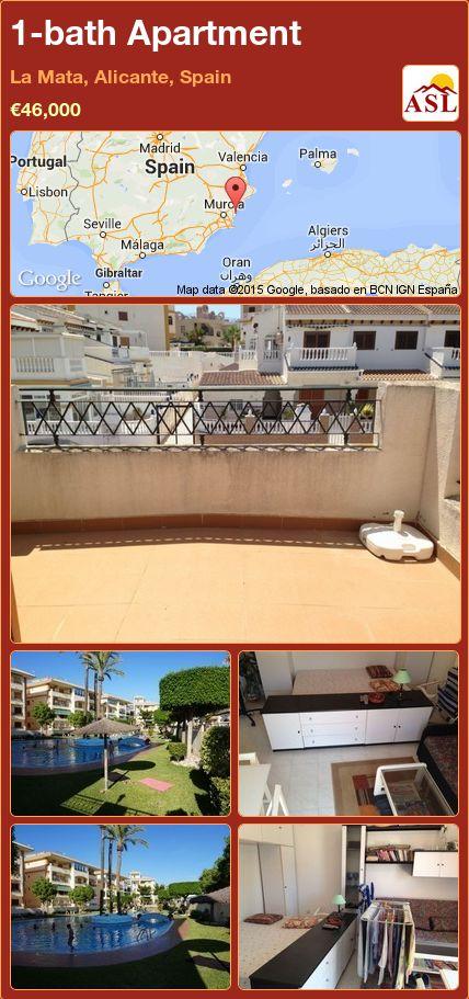 1-bath Apartment in La Mata, Alicante, Spain ►€46,000 #PropertyForSaleInSpain