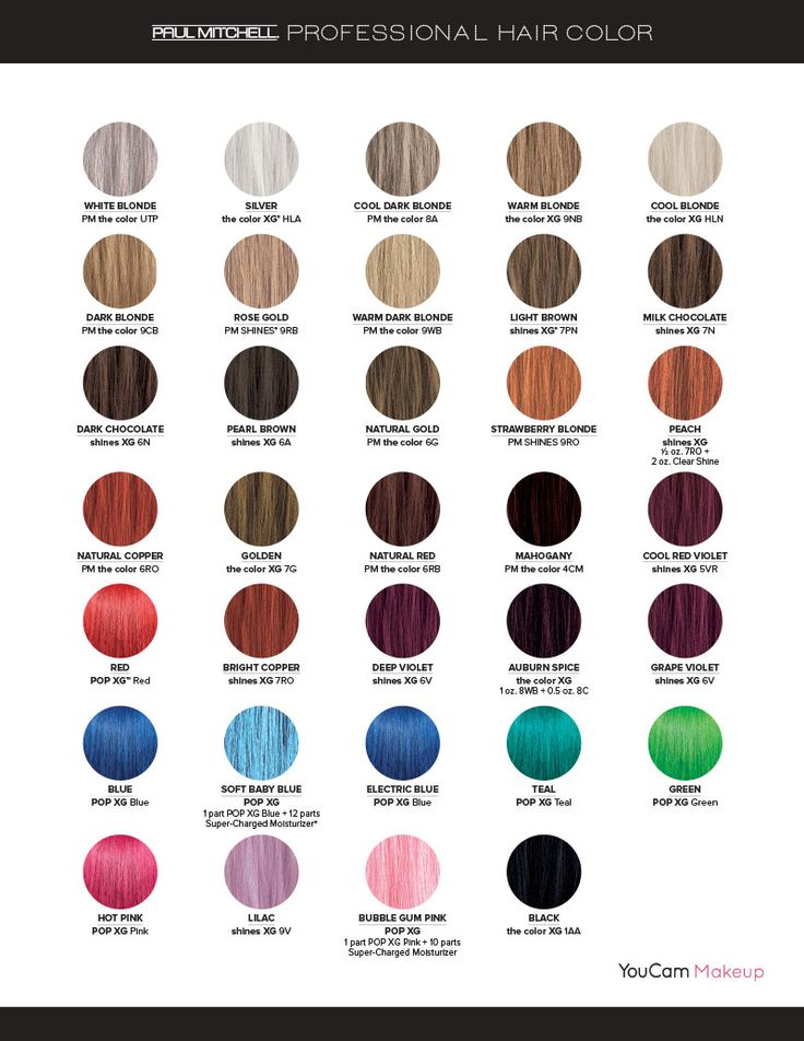 Paul Mitchell Professional Color Swatches In 2019 Paul