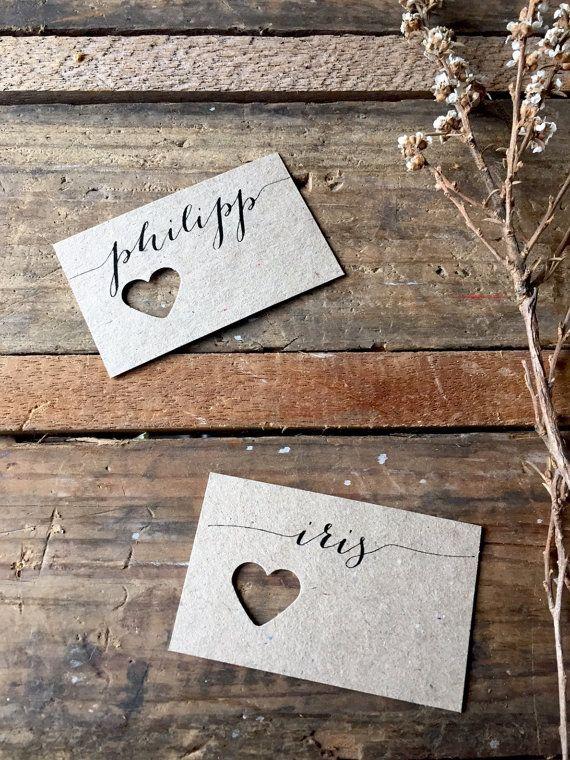 Hochzeit Gabel Tischkarten Hochzeit Tischkarten Platzkarten