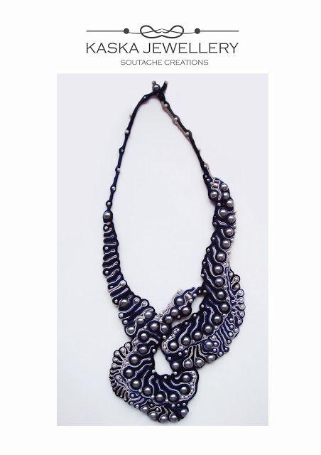 ORGANICA, #asymmetrical soutache necklace