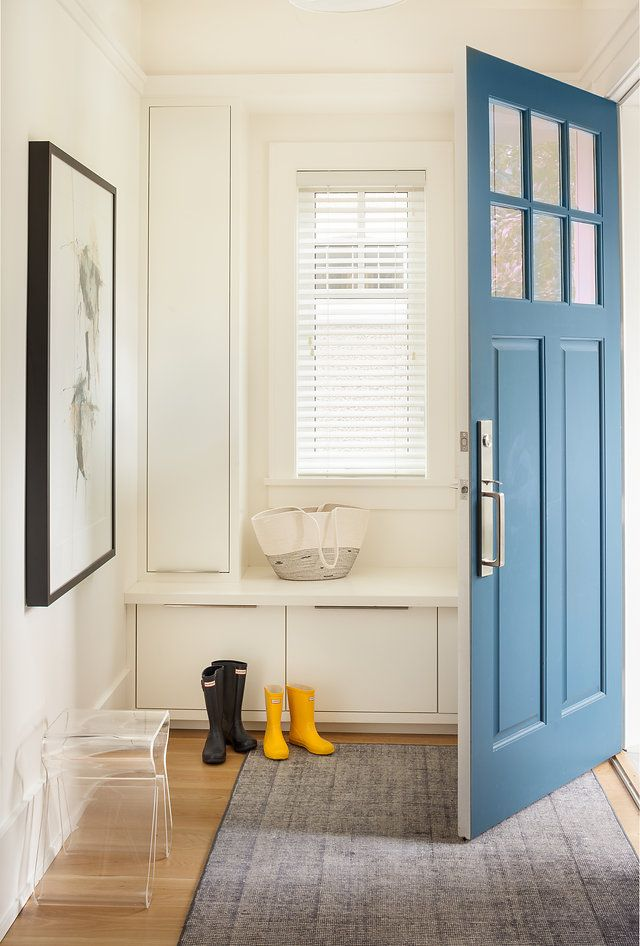 Front door in Farrow and Ball's Hague Blue - by Sophie Burke Design