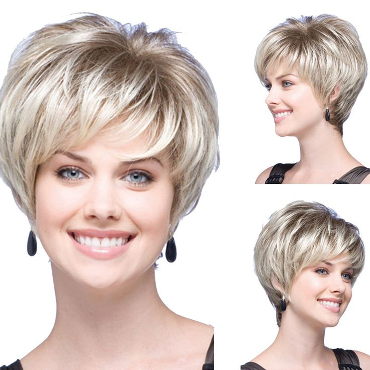 ファッションセクシーな合成ふわふわ少しカーリー波状女性のかつら短い髪かつら女の子ギフトシルバー