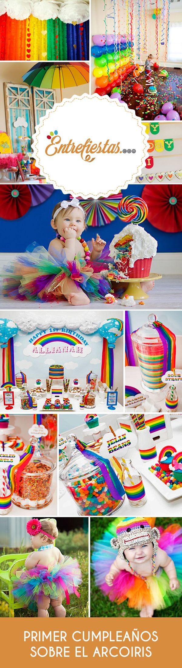 Planificar la primera fiesta de cumpleaños del bebé es todo un acontecimiento familiar por lo que las madres se las ingenian para recrear ideas novedosas y divertidas que sorprendan a los invitados. Una alternativa muy colorida y dulce para festejar se logra usando los colores del arco iris o Rainbow. Sin duda que será una propuesta muy alegre que va dejar a todos con la boca abierta.