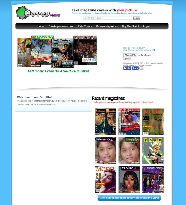 Get FaceinHole clone script to make your own fake magazine cover generator site right now. This is a fun site to make and share with your friends.