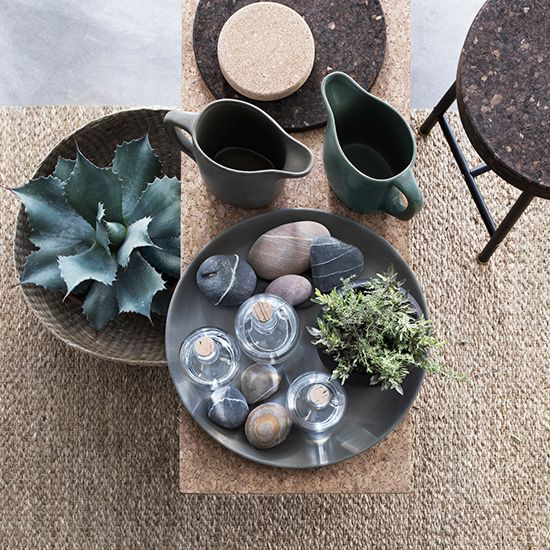 Cork | woven | The Sinnerlig collection by Ilse Crawford for Ikea. http://www.hglivingbeautifully.com/2015/08/23/ilse-crawford-designs-a-new-collection-for-ikea/