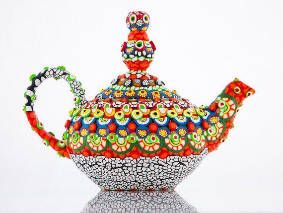 Clay Mosaic Ceramic Teapot - The Real Aladdin's Lamp