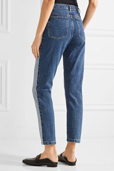 Paul & Joe - Clamecy Paneled Slim Boyfriend Jeans - Mid denim