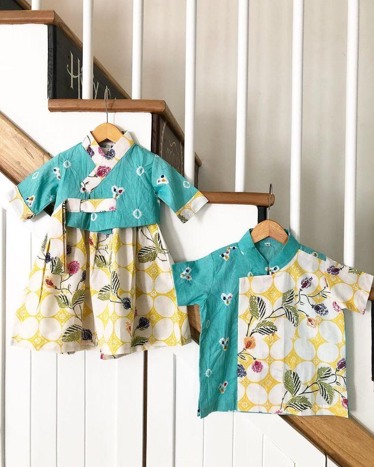 Hanbok batik anak (Dengan gambar) | Pakaian balita, Pakaian anak-anak, Model pakaian anak-anak