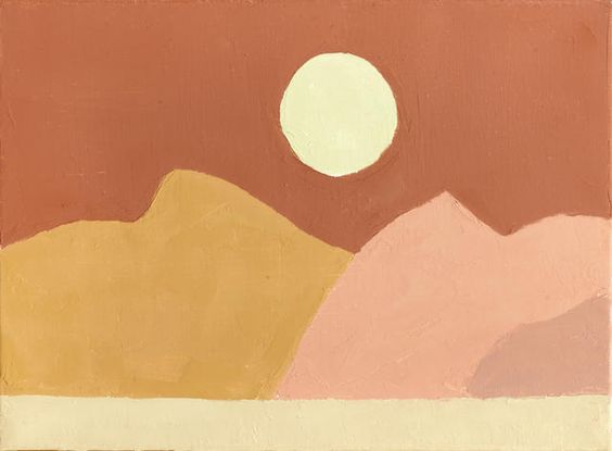 Love this art piece! By Etel Adnan - Abstract Landscape