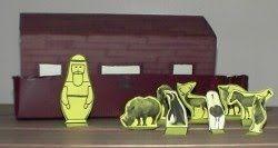 El arca de Noé de cajas de leche: con dos cajas de leche se puede formar el arca de Noé,como en la foto.. adjunto moldes de Noé y de los ani...