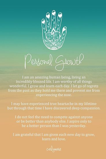 Great Affirmation - Personal Growth. & I absolutely love the hamsa!!