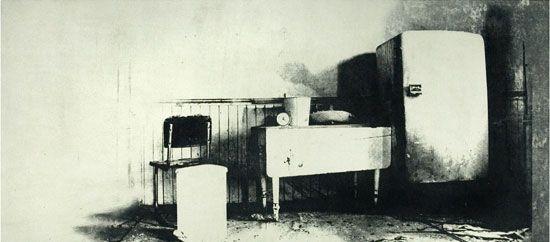"Exhibitions (Flashbulb Memories (1997, 15x35"", 22x41"")"