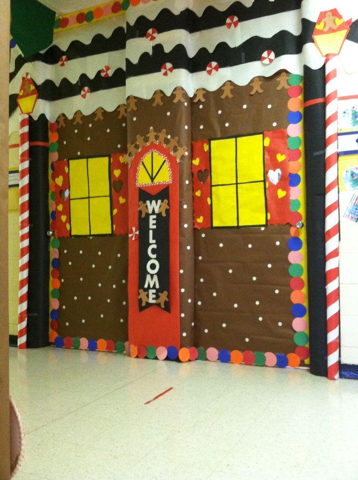Gingerbread House Bulletin Boards Christmas Hallway