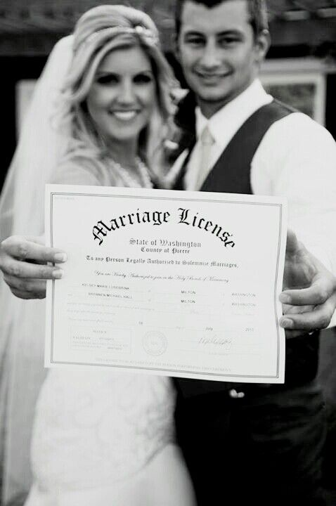 Bride and groom-Marriage license photo-Rustic wedding
