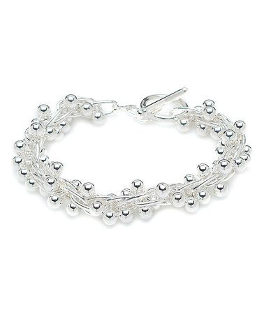 Look what I found on #zulily! Sterling Silver Stacked Ball Bracelet #zulilyfinds