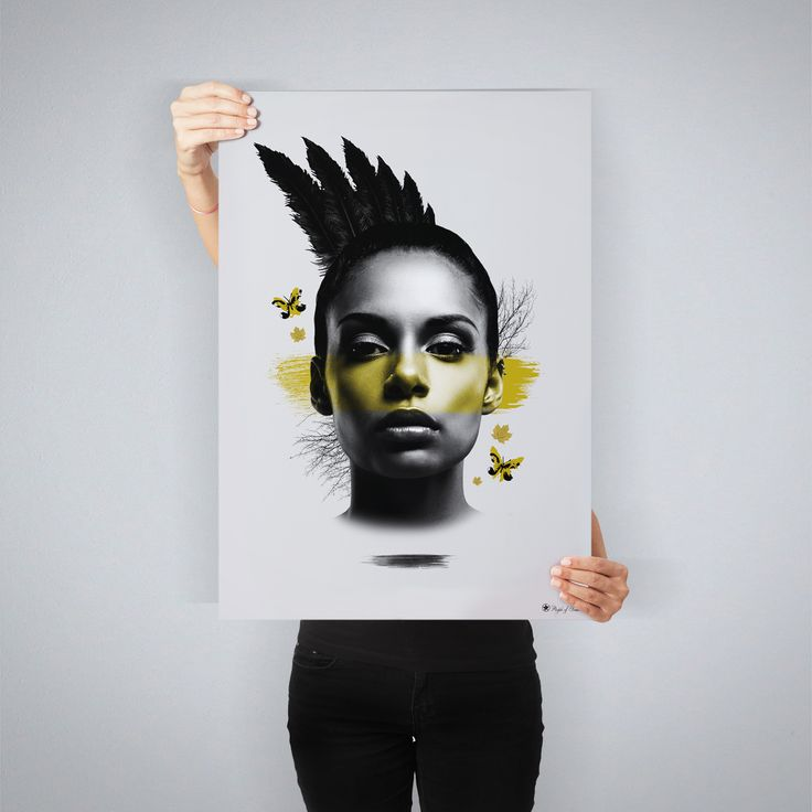"""""""Yellow Mohawk"""" // art print by People of Tomorrow // available in 4 sizes // www.peopleoftomorrow.no"""