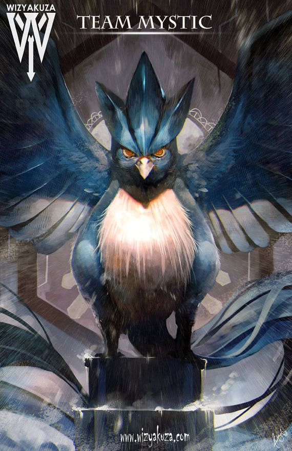Team Mystic (Articuno) - Pokemon Go - 11 x 17 Digital Print