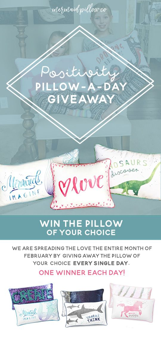 Will you help me win one of these Positivity Pillows? Check out their video to learn more about these pillows! https://www.facebook.com/mermaidpillowco/videos/1444181262263402/