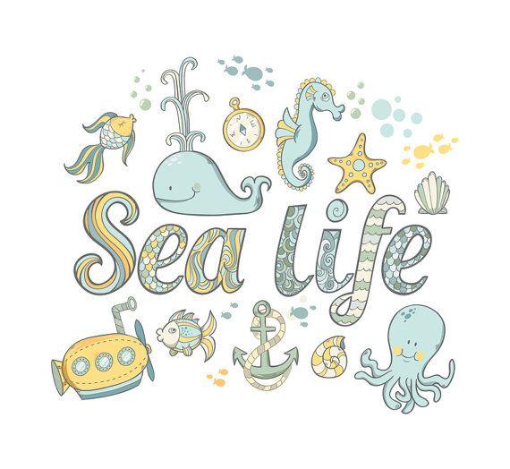 Nursery Decor mare vita 56 pezzi muro decalcomanie balena Set carino sottomarino Seahorse Starfish riutilizzabili sicuro bambini camera da letto bambino presepe ragazze ragazzi