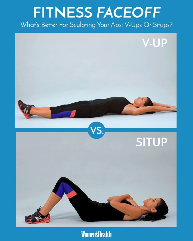 Find out what's better for sculpting serious abs: v-ups or situps?