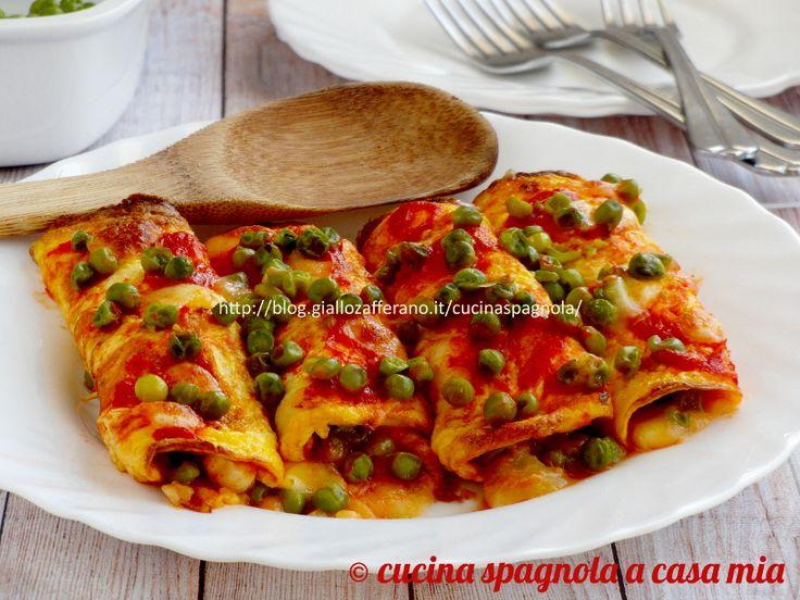 Le frittatine ripiene e filanti: un antipasto o secondo ricchissimo e facile da fare. Cotte in padella, farcite e messe un po' al forno.