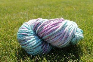 Breaking Delphinium yarn. Wool blend $24