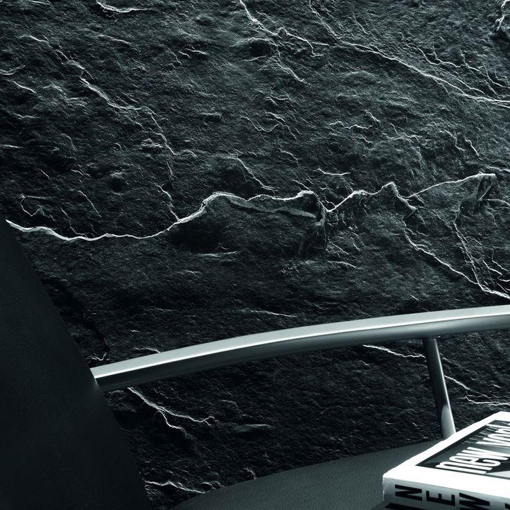 Stein Tapete Steinoptik Schiefer Kupfer Metallic Online: Wallpaper Non-Woven Bilder Auf