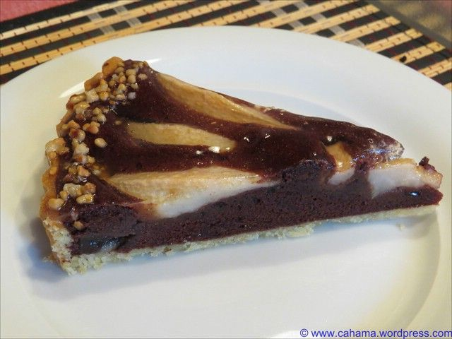 Schokolade-Birnen-Tarte