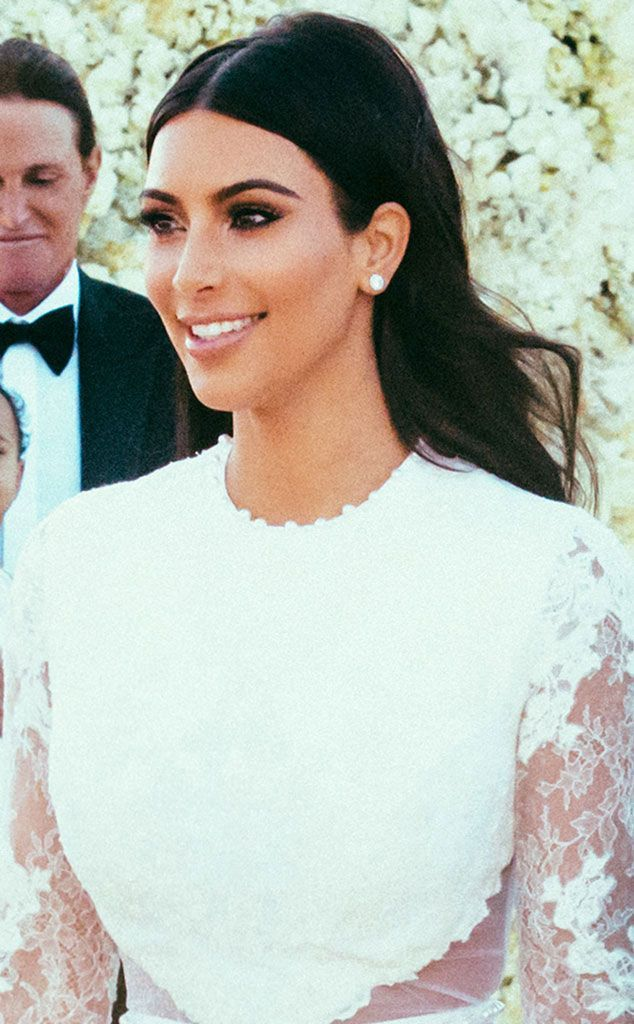 Kim Kardashian's Wedding Day.Not her biggest fan, but good lord her makeup is fabulours