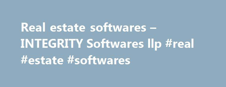 Real estate softwares – INTEGRITY Softwares llp #real #estate #softwares http://indianapolis.remmont.com/real-estate-softwares-integrity-softwares-llp-real-estate-softwares/  # Tag: Real estate softwares Why the need of software solution for Real estate Developers ? I-Flat Real Estate CRM Software is a complete web and Cloud based solution specifically tailored for Real Estate Developers and enables them to manage and automate the end to end execution of booking to possession process along…