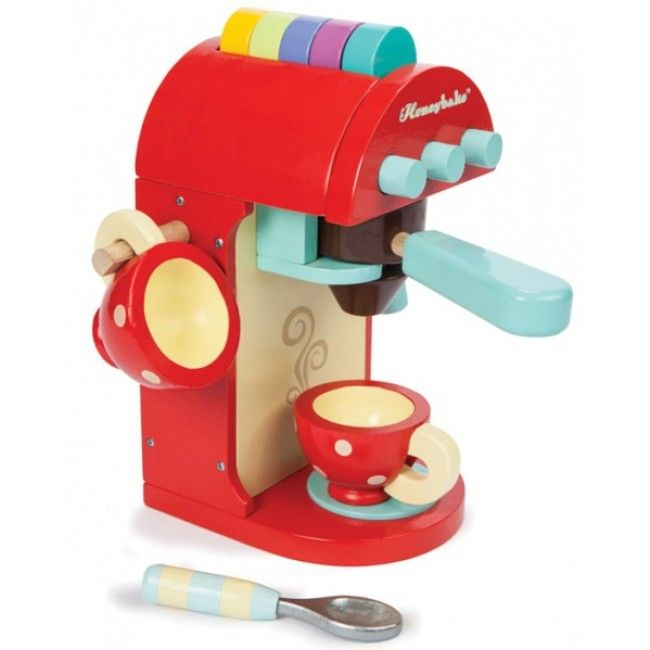 """Le Toy Van - Honeybake Chococcino Machine  #Entropywishlist #pintowin We have an Aldi coffee machine that our kids always get busted playing with! """"It's not a toy"""" is our everyday phrase! How awesome would it be if they had their own toy one they could make their """"coffees"""" with!"""