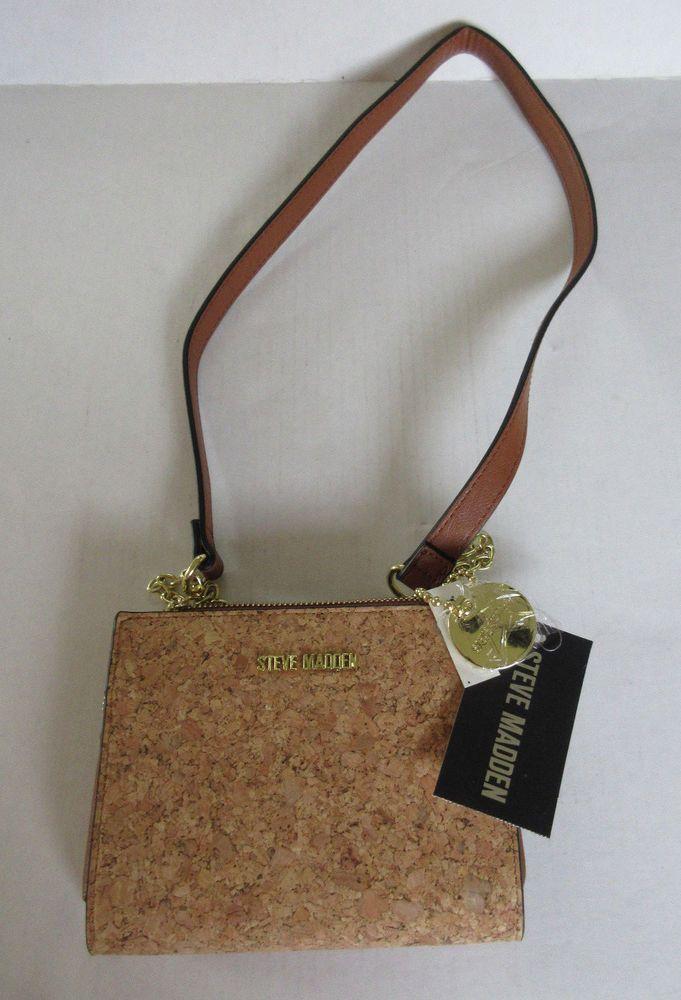 19177dae1c5 STEVE MADDEN Handbag CORK Crossbody Shoulder Bag Messenger w TAGS ...