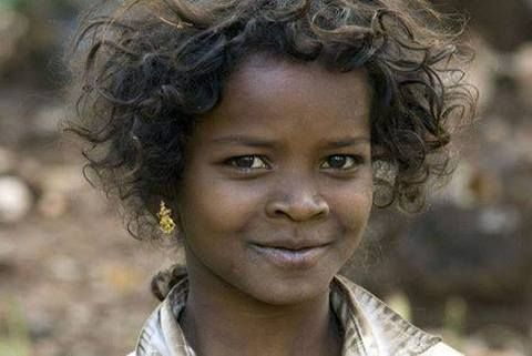 Beautiful Africoid-Indian girl known as Dalit, descendents ...