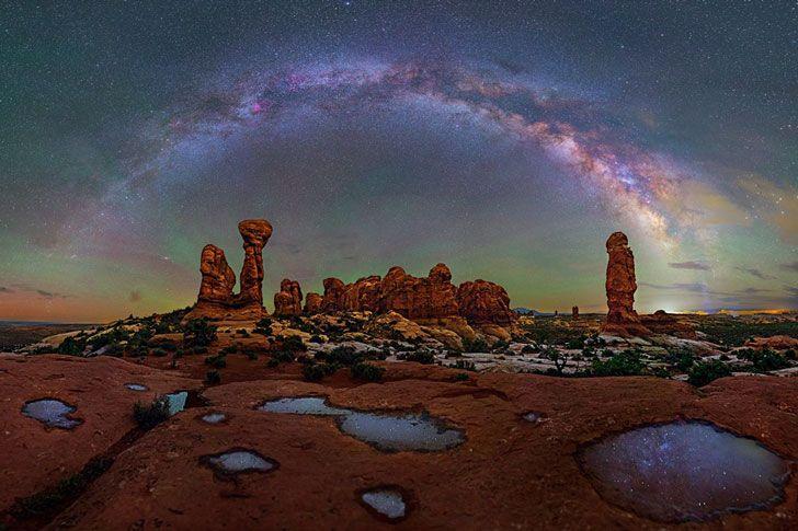 Impresionantes fotos de la Vía Láctea tomadas desde los más maravillosos parques nacionales | Upsocl