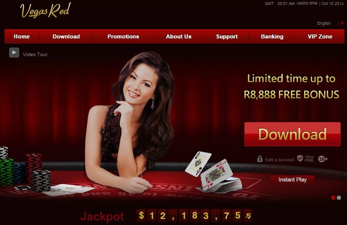 #ZAROnlineCasinoNoDeposit   #VegasRedOnlineCasino   #R100Free  Looking for a ZAR Casino offering a No Deposit bonus? Sign up @ Vegas Red Online Casino and receive a R100 Free Trial bonus + up to R8,888 in welcome credits.  http://onlinecasinobonus.co.za/vegas-red-online-casino-review.html