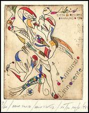 Rusu Petru C3 Exlibris 1988 Bookplate Erotic Erotik Nude Nudo s850