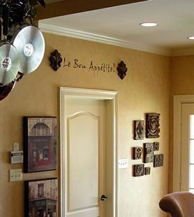 French kitchen wall color light caramel le francias et - Country kitchen wall colors ...
