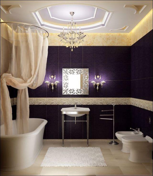 purple and cream bathroom