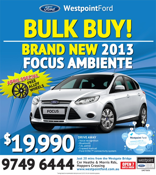 Brand New 2013 Focus Ambiente $19,990 drive away.