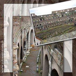 LA STRUTTURA DEL COLOSSEO. DESCRIZIONE DELL'EDIFICIO DEL COLOSSEO DI ROMA, L'ARENA, LE GRADINATE E L'ESTERNO