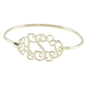 Cutout Monogrammed Bracelet - i wouldn't want it til my initials were different so i could wear it fo eva.