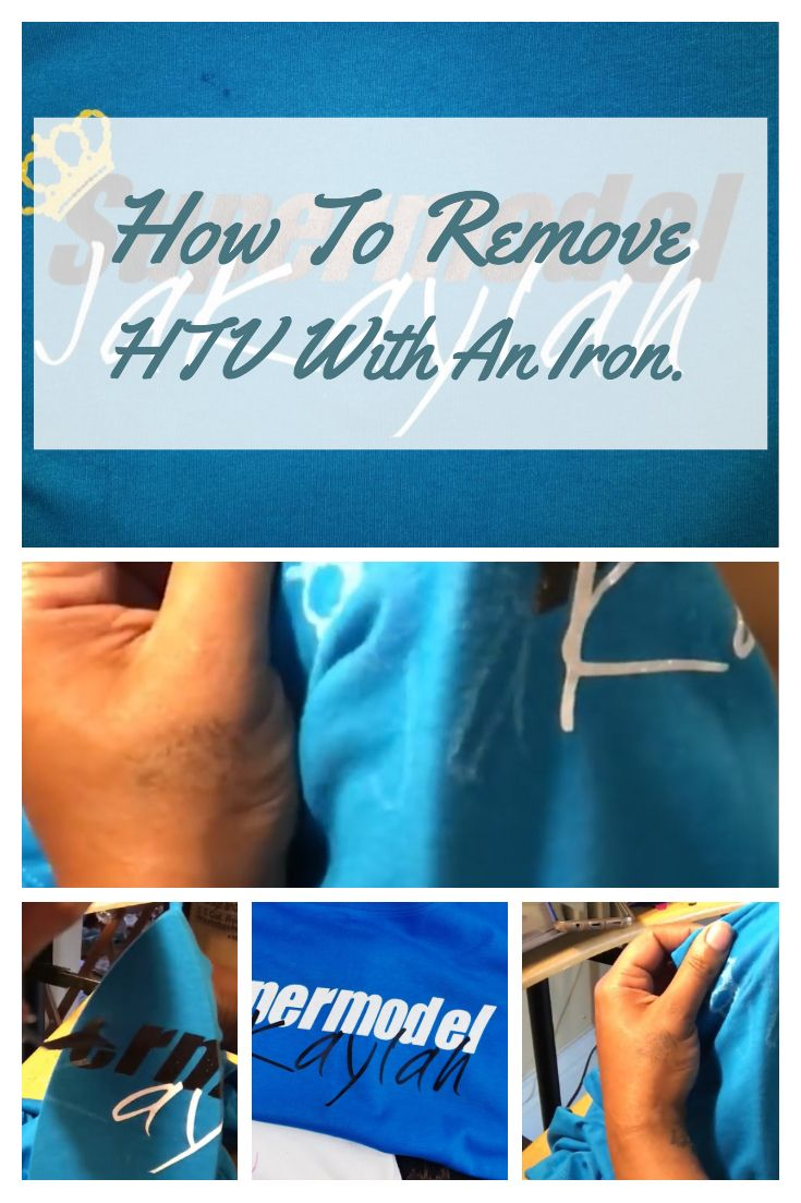 How To Remove Heat Transfer Vinyl Or Htv The Easy Way Cleaning Hacks Clean House Heat Transfer Vinyl